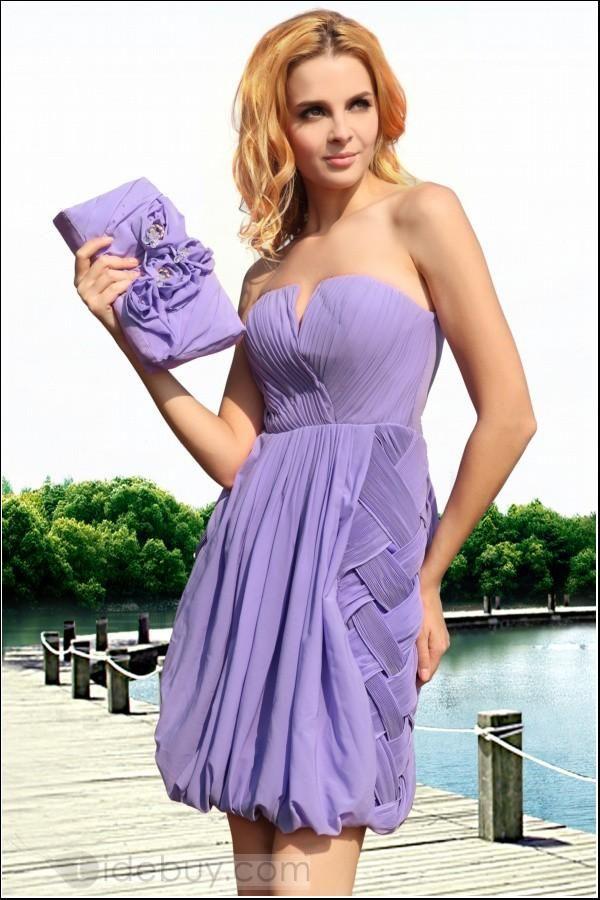 Elegante Vestido Para Eventos Largo a la Rodilla con Escote Corazón ...