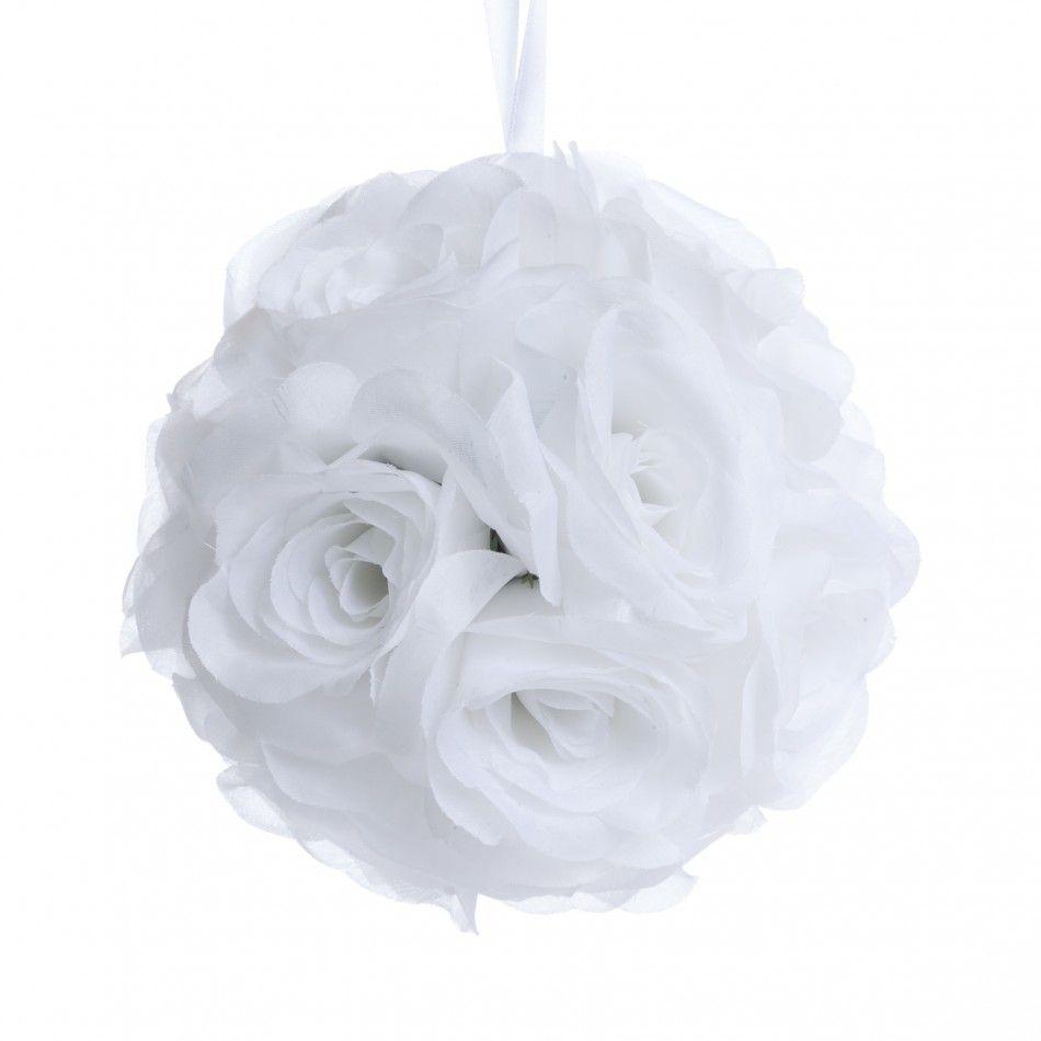 6 Evelyn White Rose Ball Pomander NEW! [403244 GV White Rose Ball ...