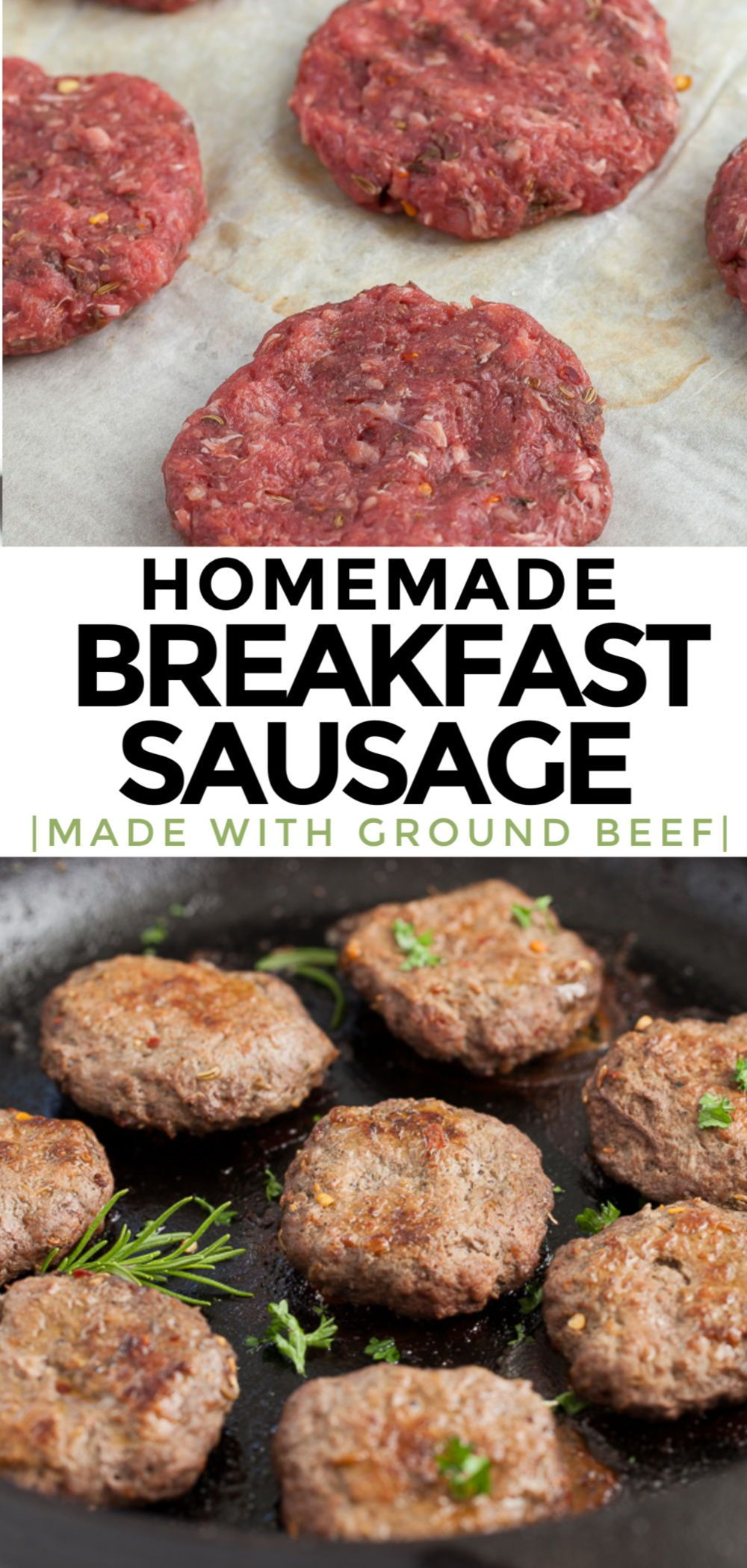 Ground Beef Breakfast Sausage Keto Whole30 Paleo In 2020 Beef Sausage Recipes Ground Beef Breakfast Ground Lamb Recipes