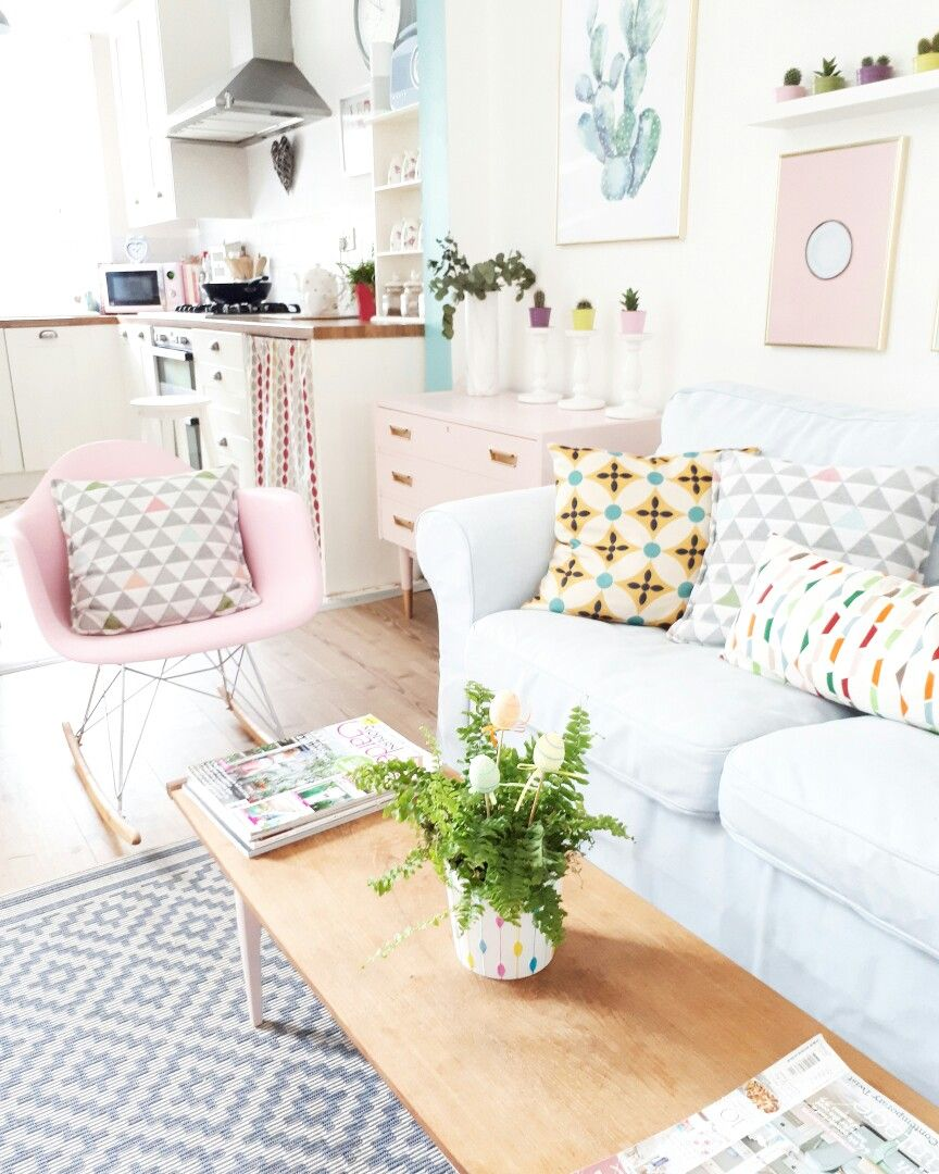 Our pastel Pink rocking chair | Yellow armchair, Chair ...