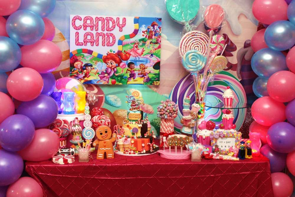 Candy Themed Decoration Ideas Part - 35: Willy Wonka U0026 Candyland Birthday Party Ideas