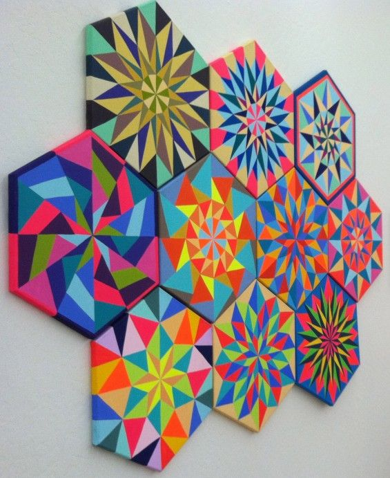 Diamond-Patterned Paintings ... doing this in the kitchen today!