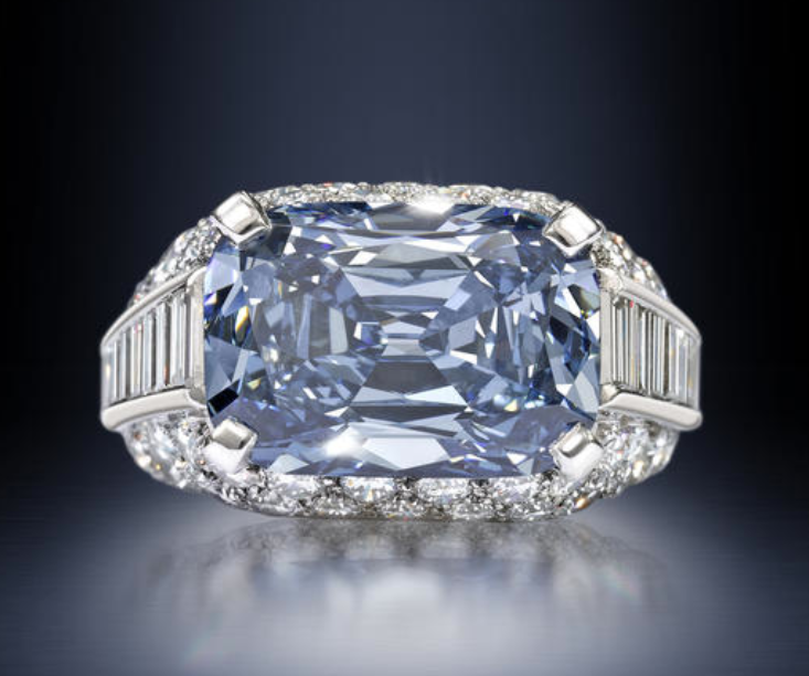 An important fancy deep-blue diamond 'Trombino' ring ...