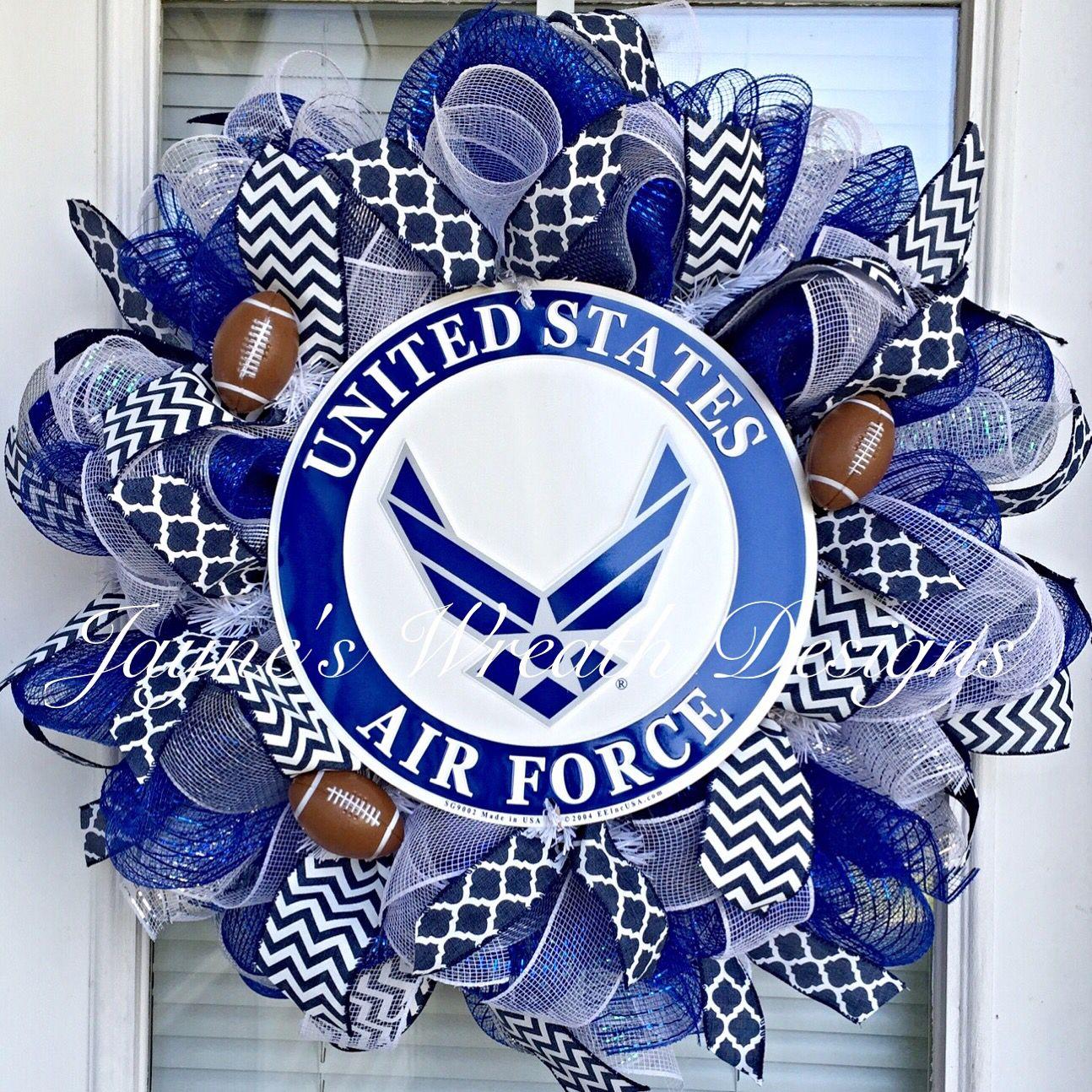United States Air Force Academy Football Wreath USAF Jayne