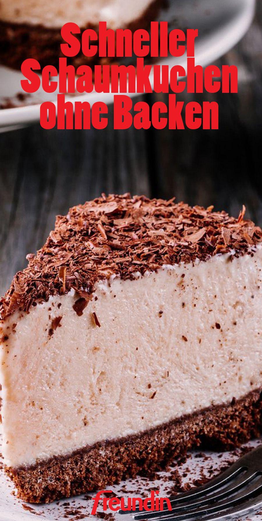 Blitzrezept Schneller Schaumkuchen Ohne Backen Kuchen Und Torten Rezepte Kochen Und Backen Und Backen
