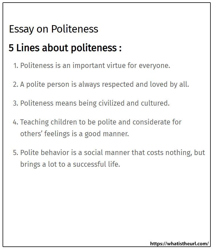 Essay On Politenes Teaching Kids Manners Manner