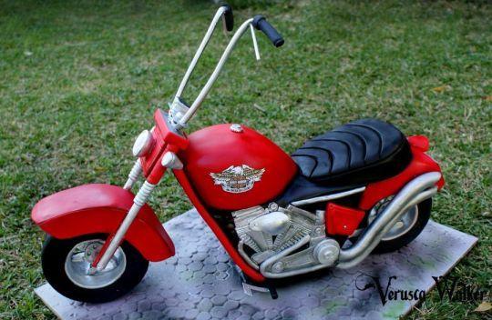 3D Motorcycle Cake
