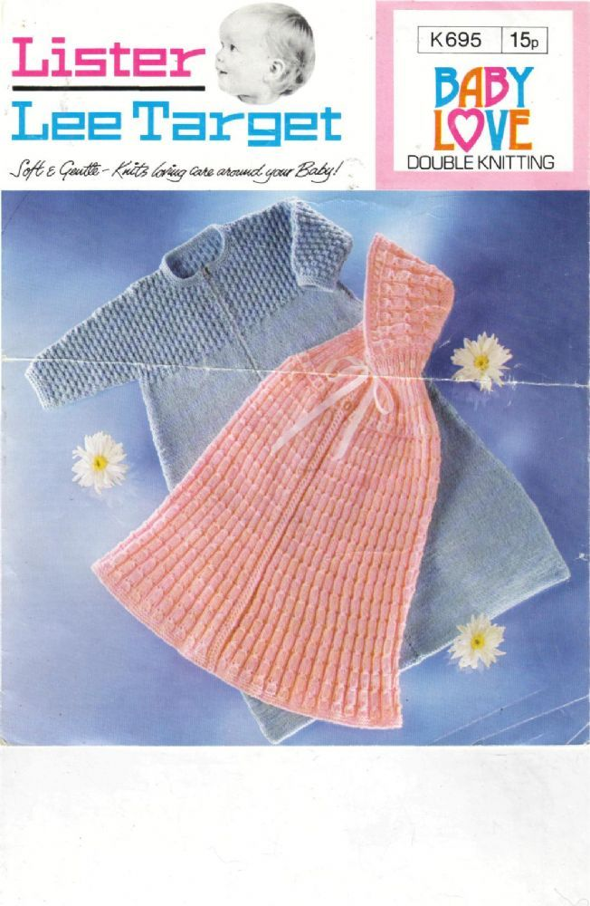 PDF Vintage Knitting Pattern Baby Hooded Cape Sleeping Bag Cocoon ...