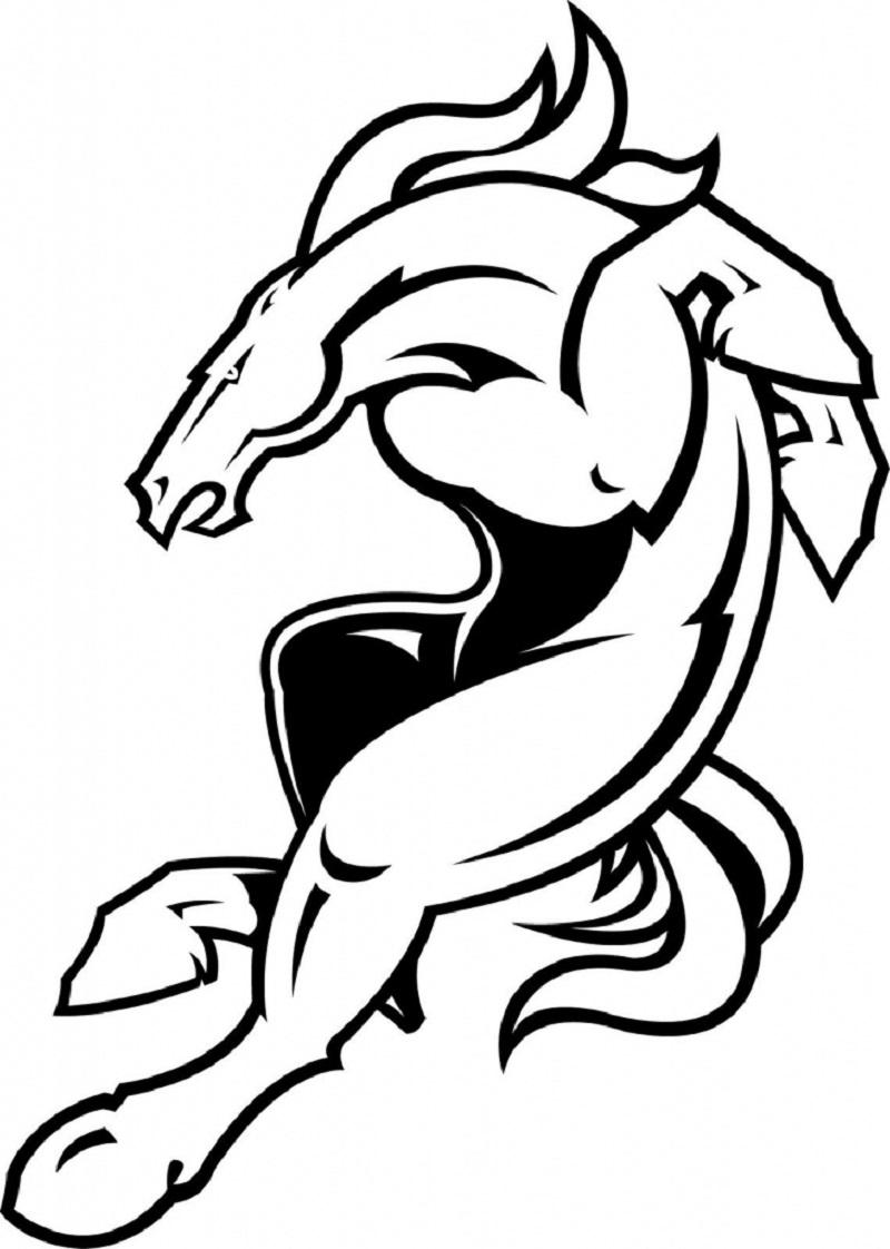 Denver Broncos Coloring Pages Educative Printable Denver Broncos Logo Denver Broncos Merchandise Broncos Logo