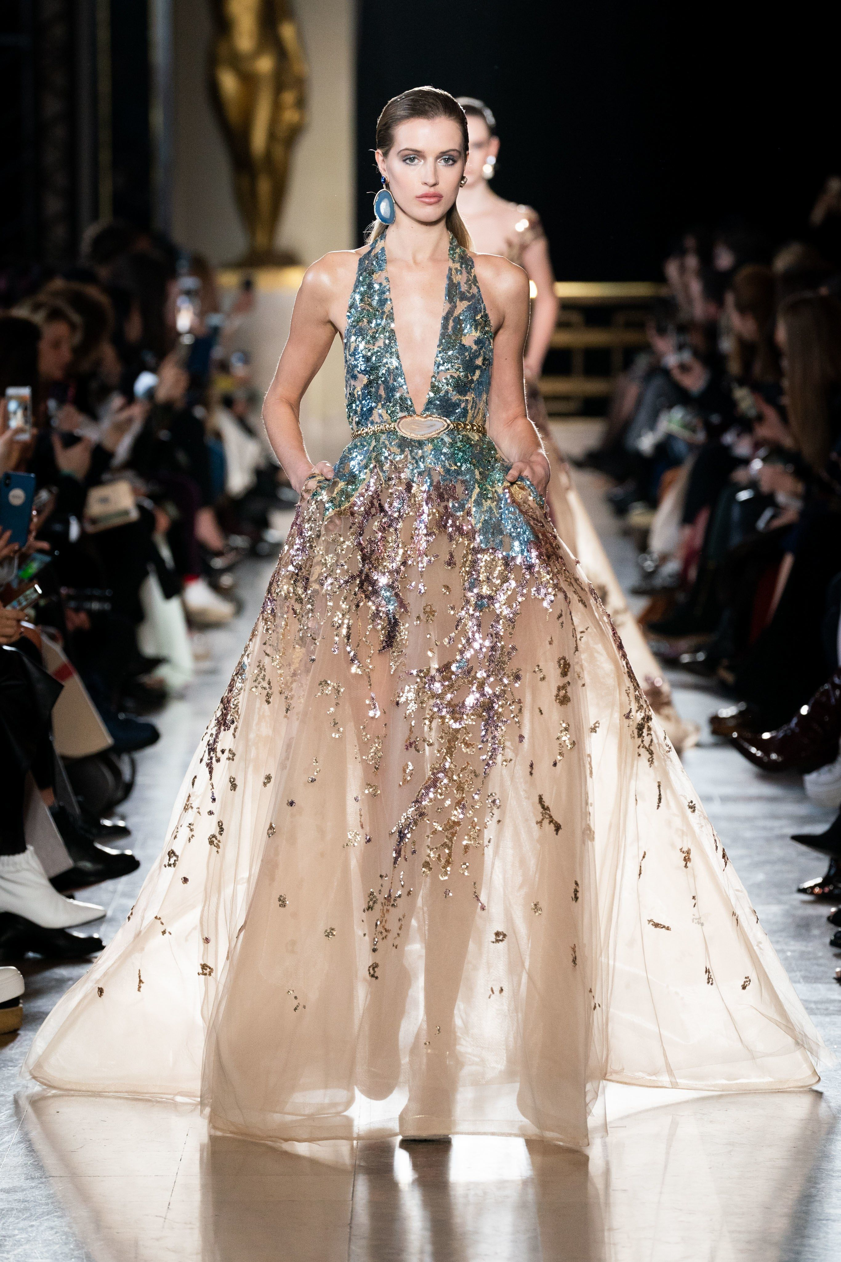91e2202ae1dcf Elie Saab Spring 2019 Couture Fashion Show in 2019 | Couture SS19 ...
