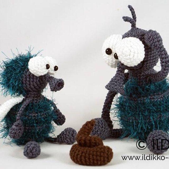 Amigurumi Crochet Pattern Monsieur Mouche and Fleur the   Dino ...