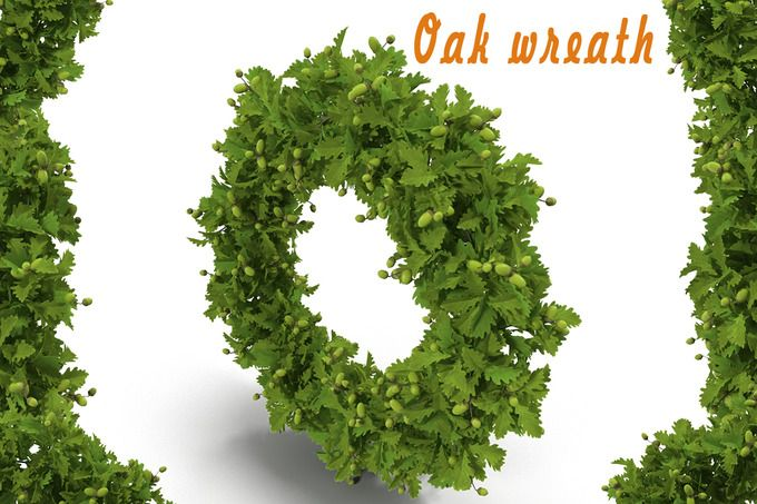Oak wreath by AndrewWhite on Creative Market