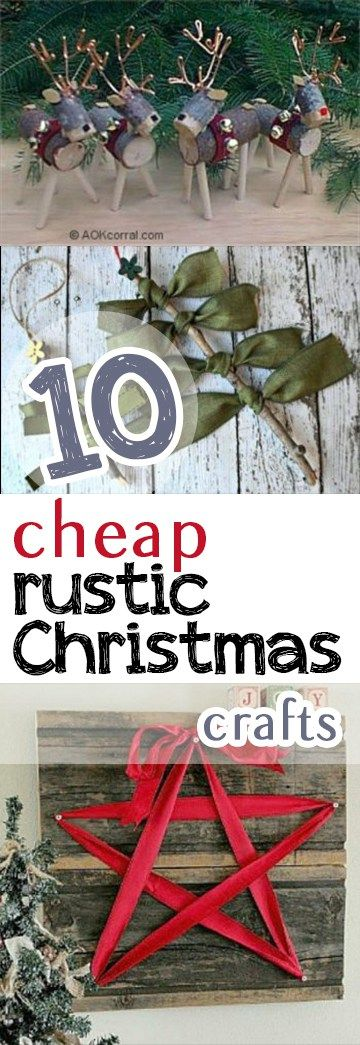 Rustic Christmas Craft Ideas Part - 27: Rustic Christmas Crafts, Craft Ideas, Crafts For Christmas, Popular Pin,  Holiday Decor