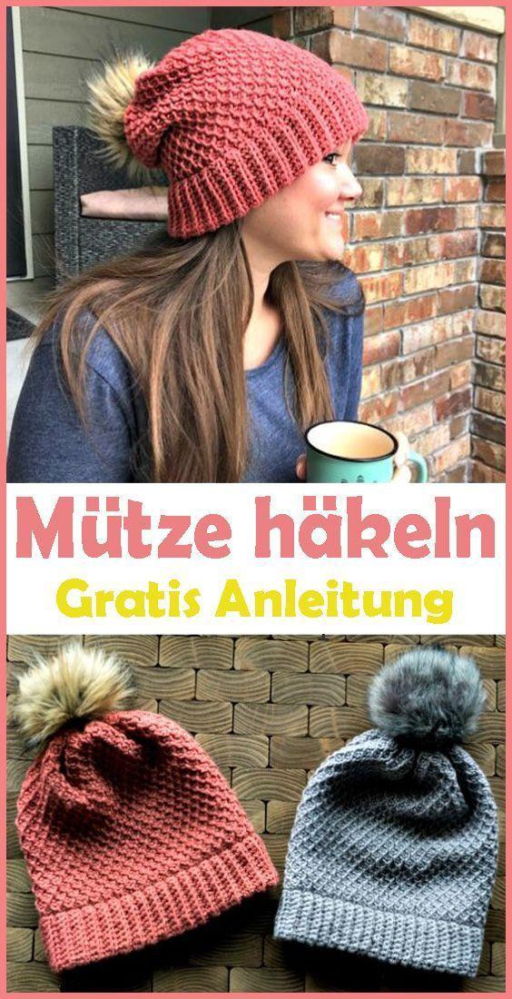 Photo of Winter Mütze häkeln – kostenlose & einfache Anleitung – New Ideas-   #Anleitun…