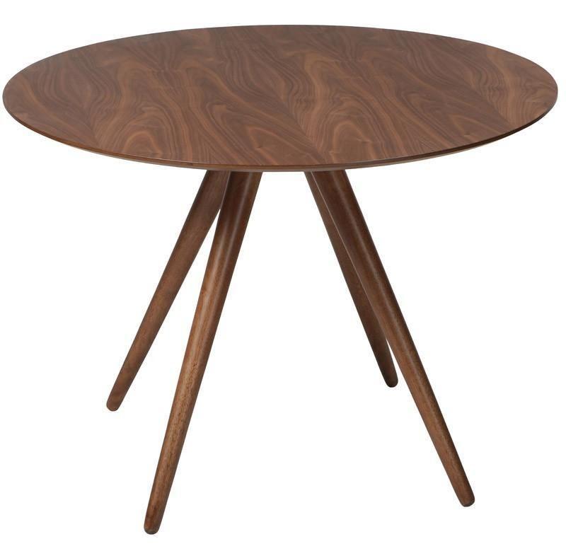 Danform - Pheno Spisebord - Valnød - Ø106 - Smukt spisebord med rund ...