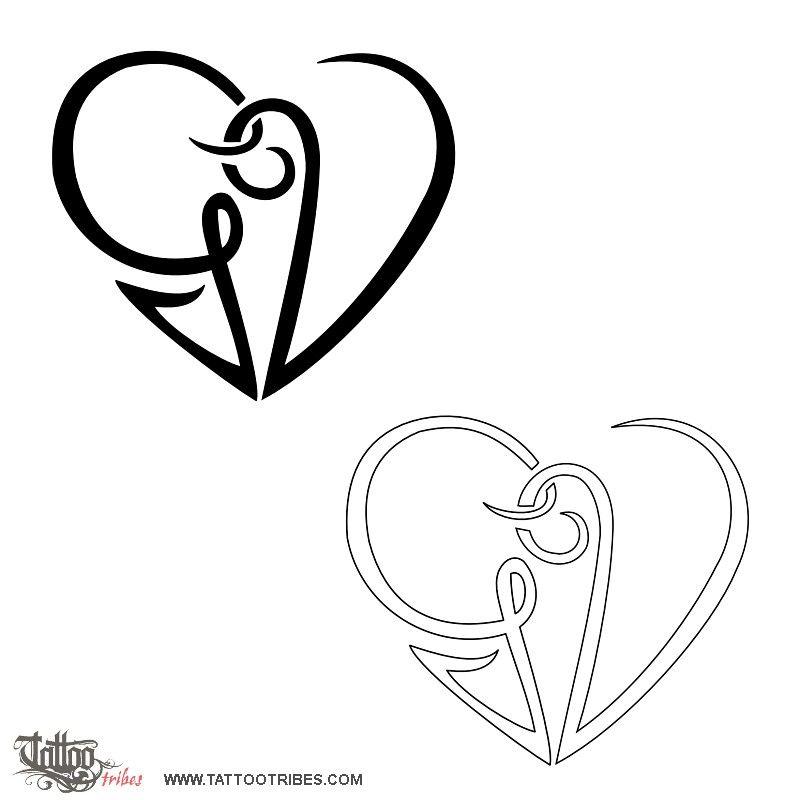 Tatuaggio Di Cuore G V Unione Tattoo Tattootribes Com V Tattoo G Tattoo Initial Tattoo