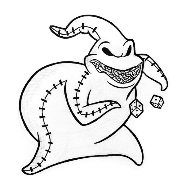 oogie boogie coloring pages 6 colouring pictures - Nightmare Before Christmas Coloring Pages
