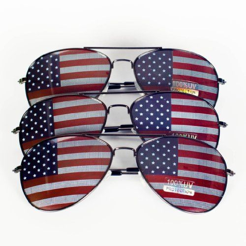 Amazon Com American Flag Aviator Sunglasses Glasses Gift Box Pack Silver Black Silver 50 Millimeters Sunglasses Aviator Sunglasses American Flag Clothes