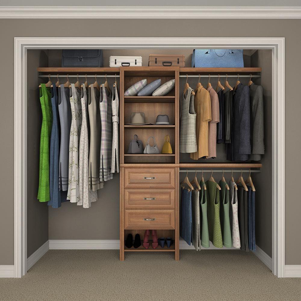 ClosetMaid Impressions 5 Ft.   10 Ft. Walnut Basic Plus Closet System (7