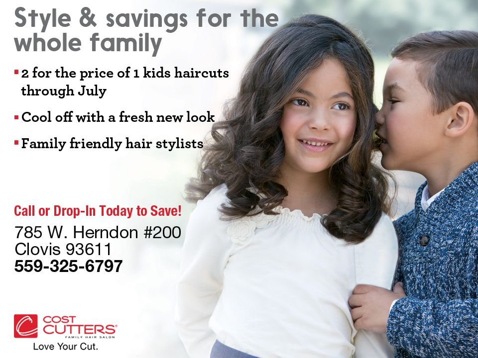 Cost Cutters Clovis Is Offering 2 For 1 Kids Haircuts Through The