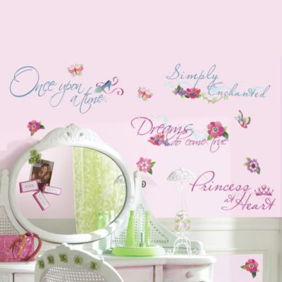 Buy RoomMates Disney® Princess Quotes Wall Decals With Glitter From Bed  Bath U0026 Beyond
