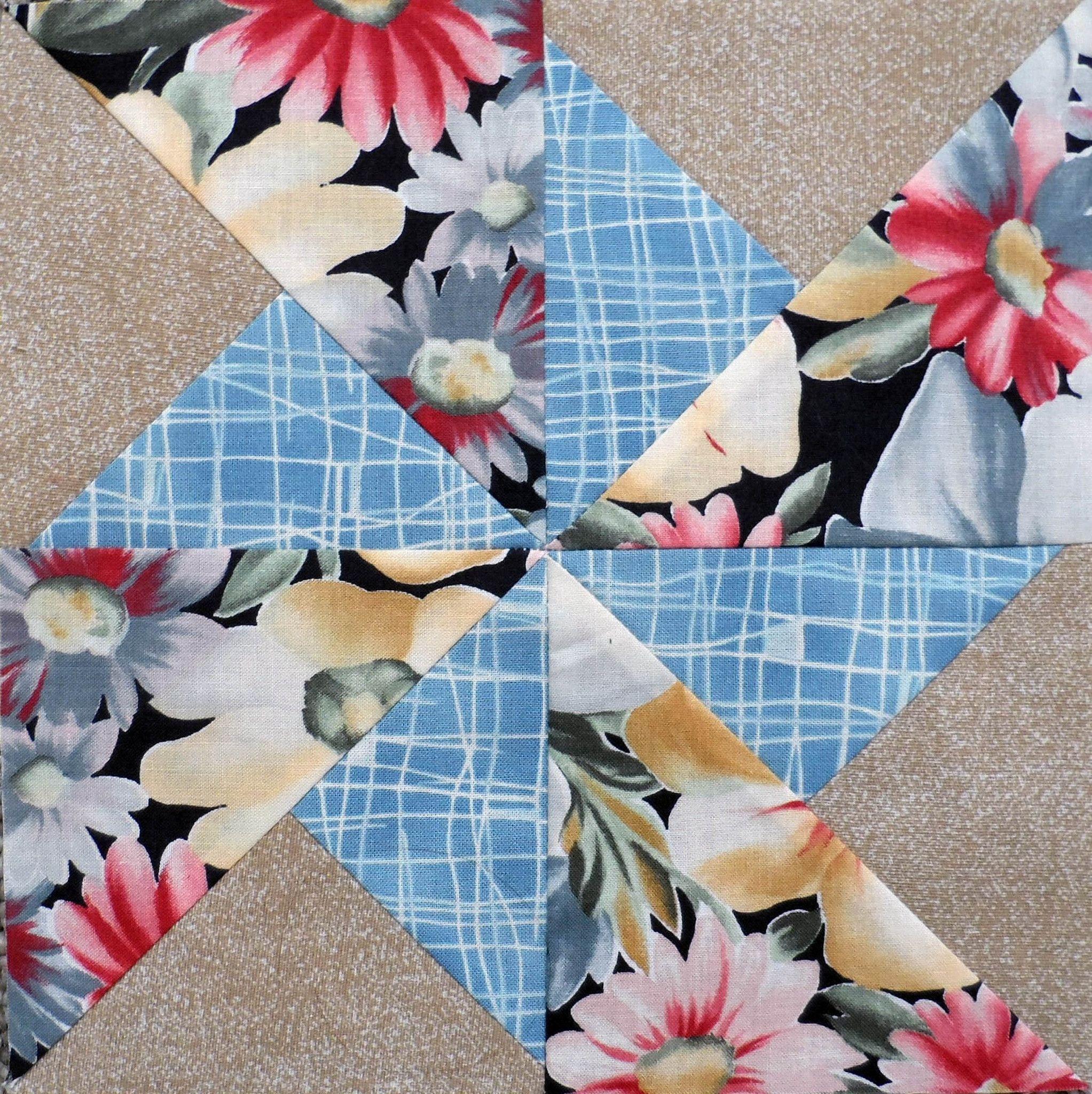 "Pinwheels Sampler Quilt Blocks Block Size 8.5"" x 8.5"" Block Size 8"" x"