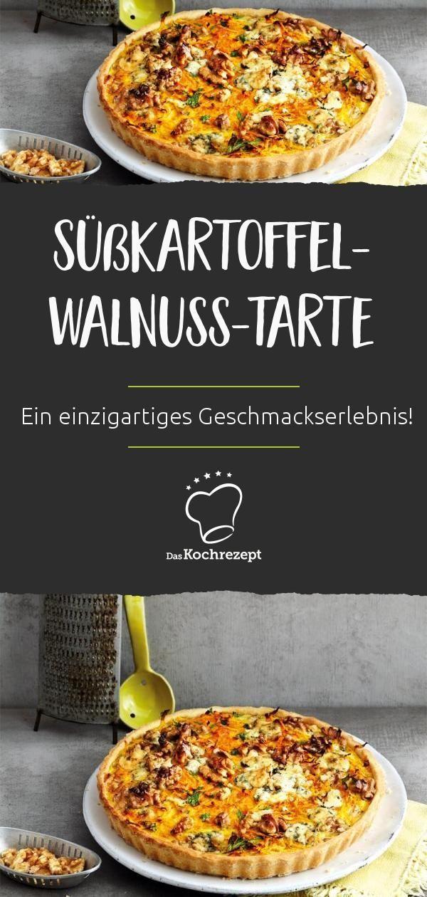 Süßkartoffel-Walnuss-Tarte