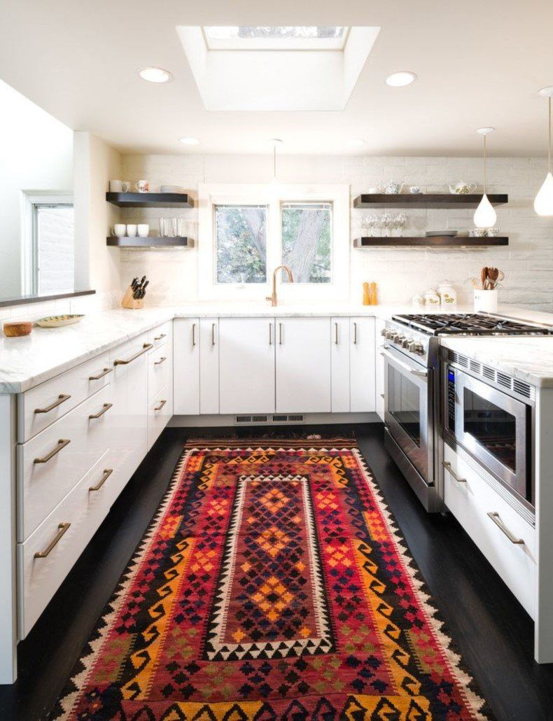 Gentil Funky Kitchen Floor With A Traditional Carpet | TheBestWoodFurniture.com