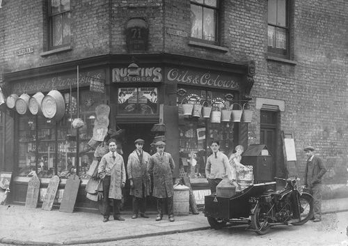 In 1924 Sidney Rustin Opened Its First Store In Shoreditch Area Of London Where He Sold Tools For Wood Finishing Survival Vintage London The Good Old Days