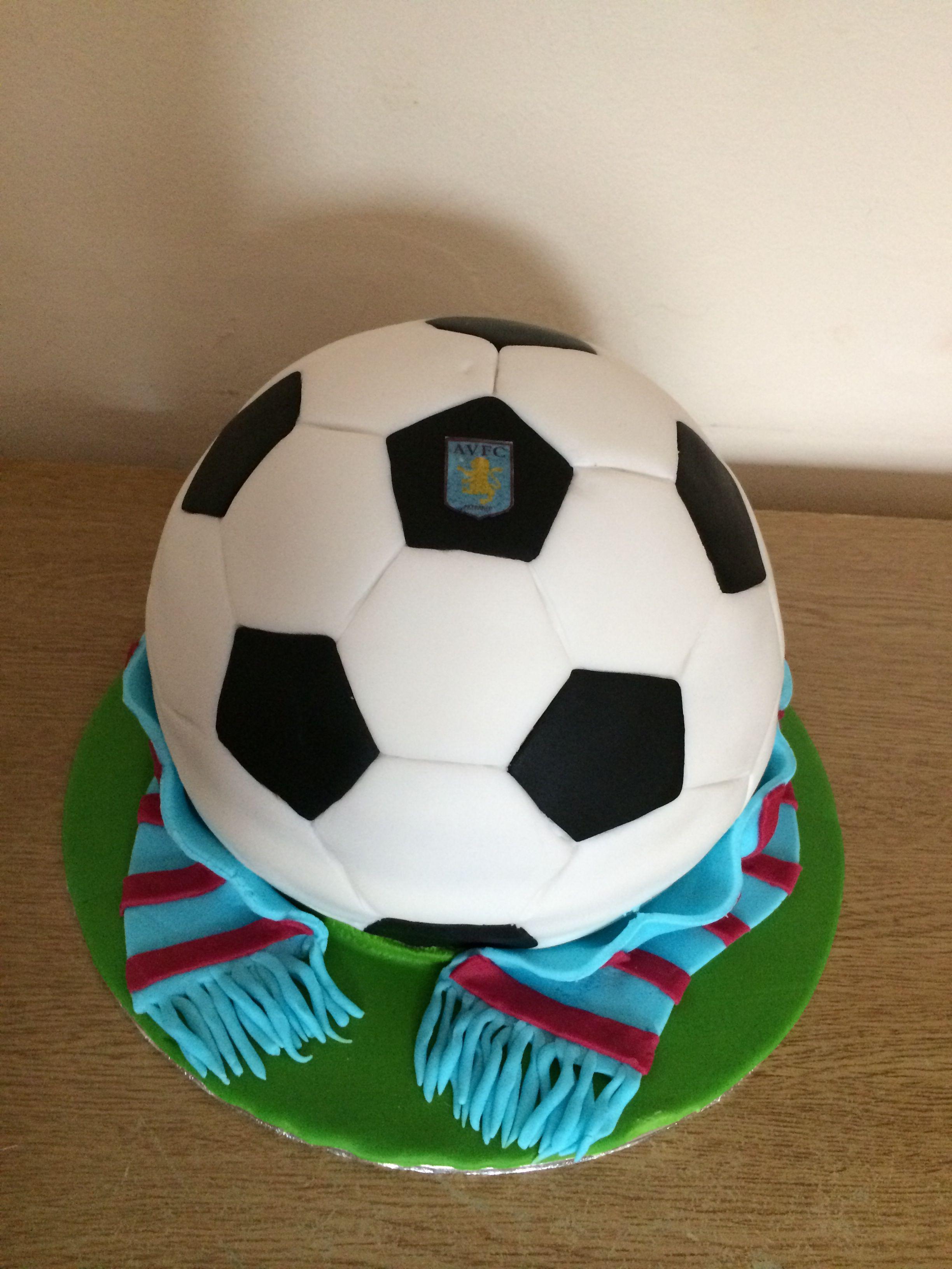 Aston Villa Football Cake Dad Birthday Cakes Friends Birthday Cake Soccer Birthday Cakes