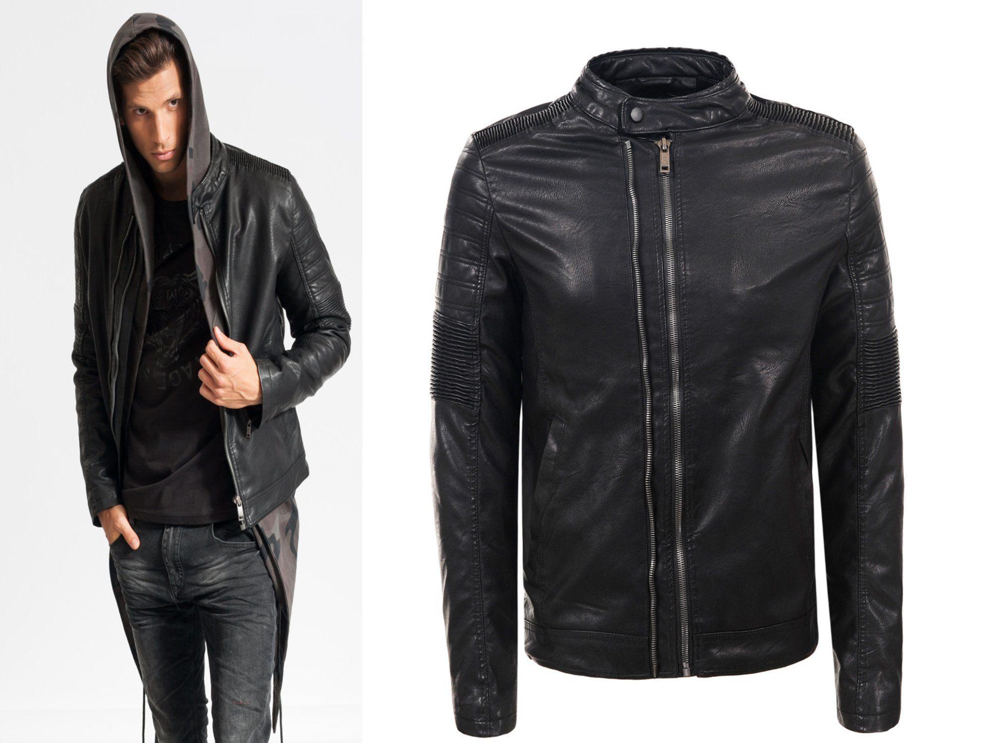 Skora Meska Kurtka Skorzana Eko Ocieplana M 6976042386 Oficjalne Archiwum Allegro Leather Jacket Fashion Jackets