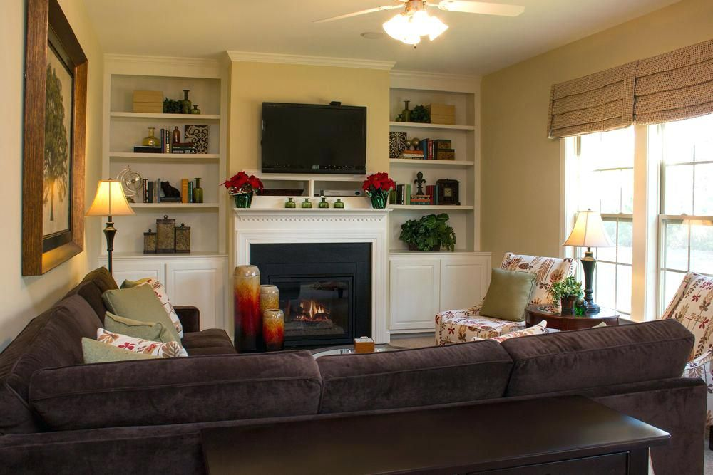 living room layout with tv over fireplace cozy family room ...