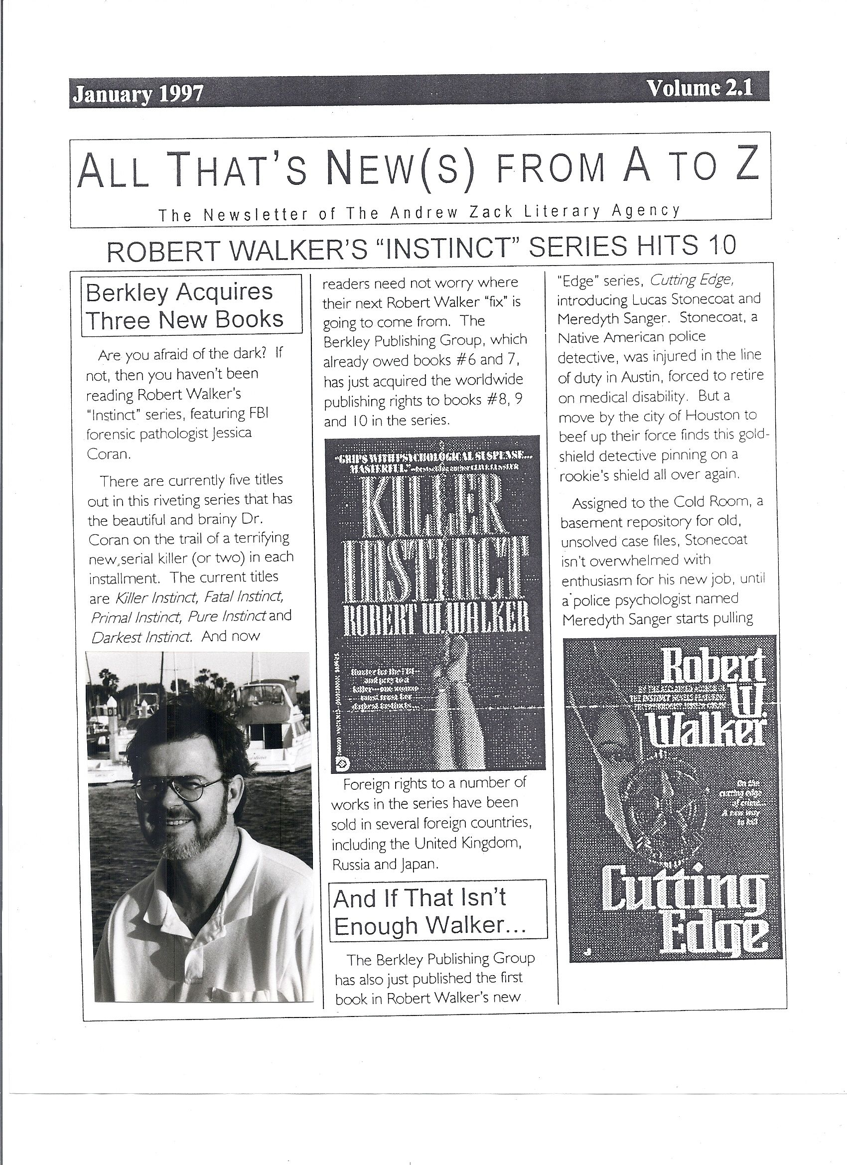 Photo of an earlier time...when I was publishing with Berkley