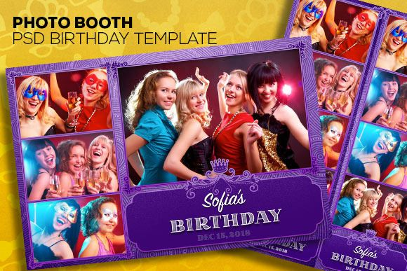 PhotoBooth PSD Templates Two Size | Photo booth, Psd ...