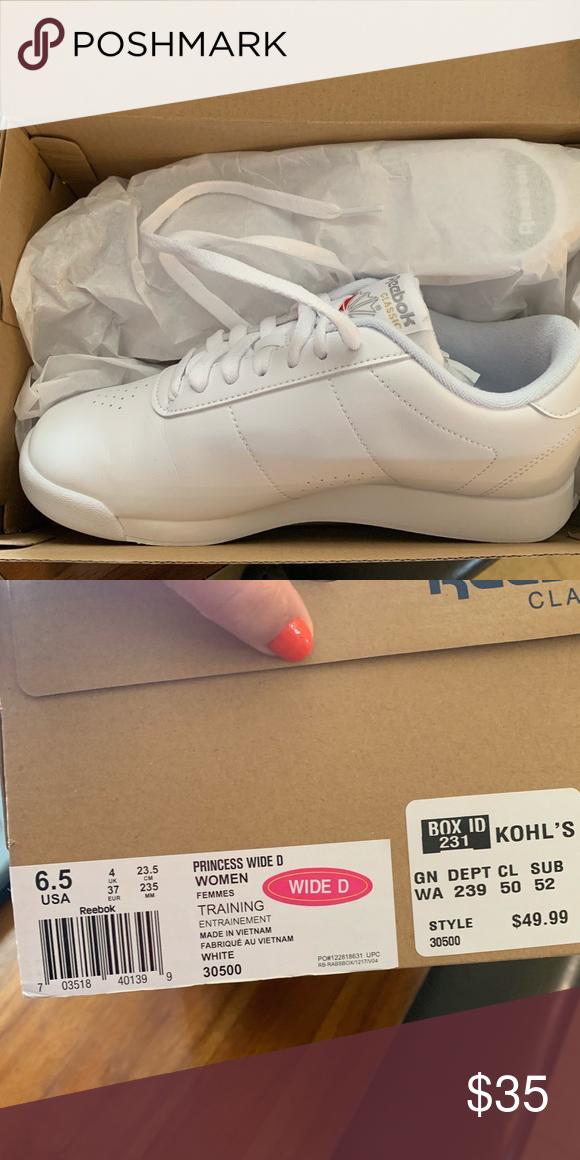 Reebok Princess Classic Shoes 6.5 Wide