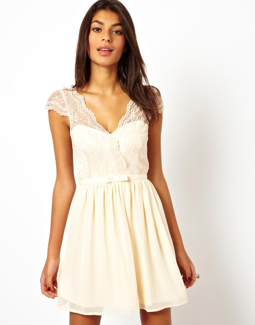 Asos skater dress with scalloped wrap style pinterest maids