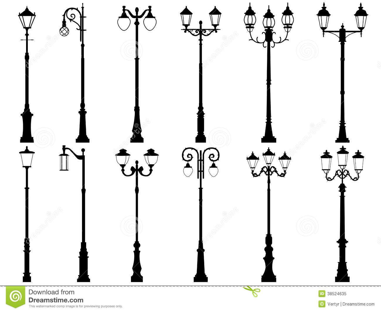 Silhouettes Lamp Post