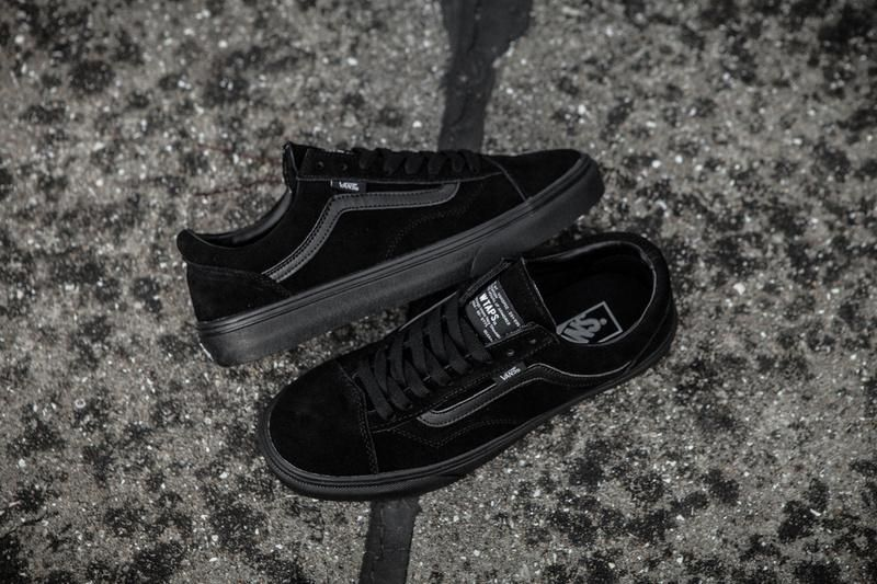 Vans x Vault x WATPS Suede Old SKOOL Classic All Black Womens Shoes  Vans cd312083f2
