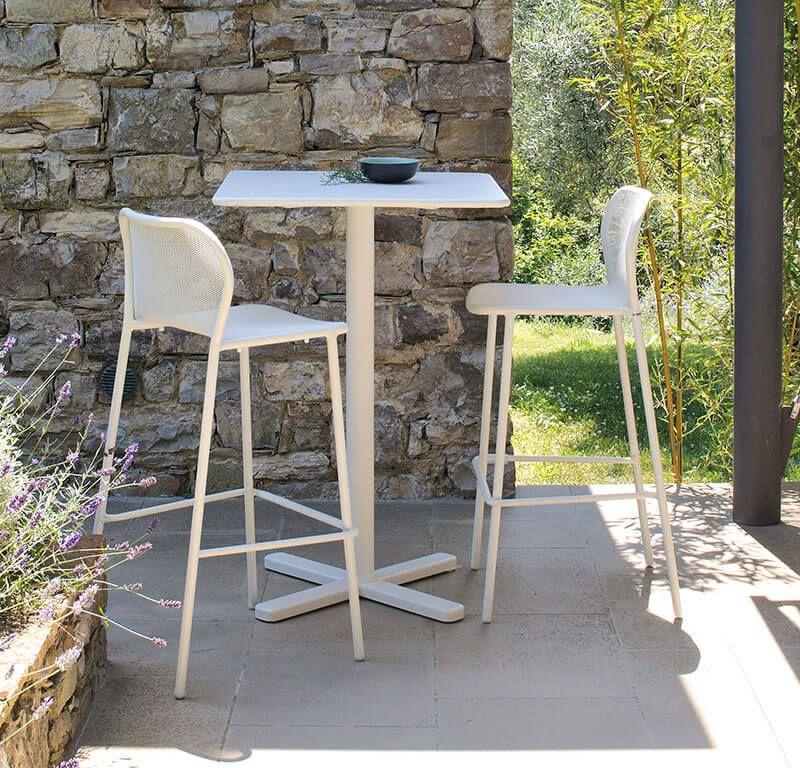 Darwin table haute | Tabouret haut, Bar patio et Table carrée