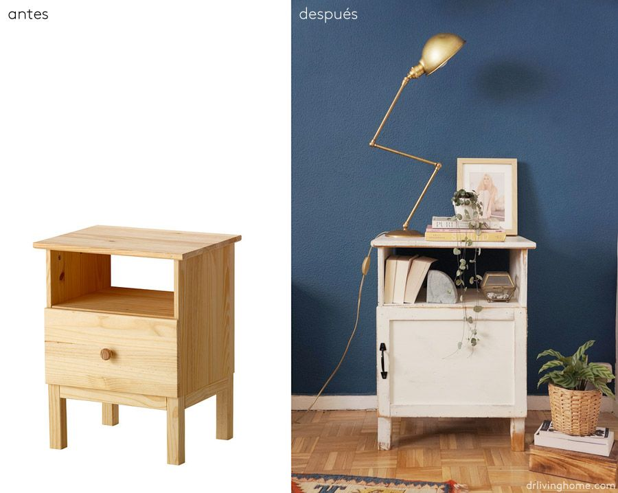 Ikea hack: mesilla de noche rústica | muebles | Pinterest | Mesita ...