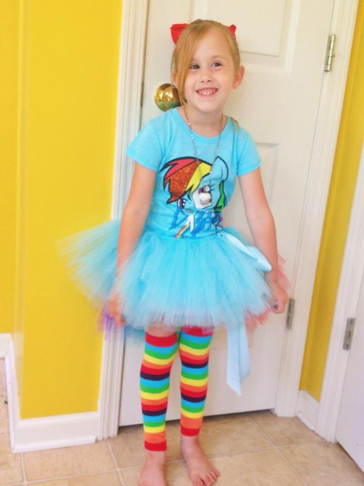 My Little Pony Birthday Party Rainbow Dash Outfit Tee Shirt Tutu And Leg Warmers