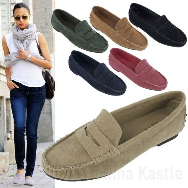 Womens Tan Leather Driving Shoes