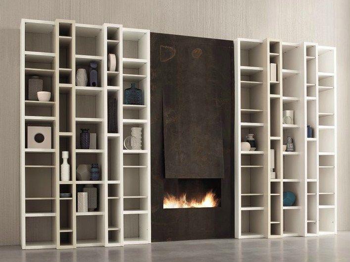 Libreria a giorno laccata modulare SPEED B by Dall\'Agnese design ...