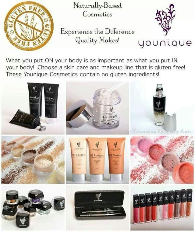 Gluten free make up http://www.youniqueproducts.com/Dpeterson