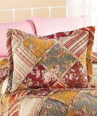 Ragtime floral quilt comforter bedding full queen king for King shams on queen bed