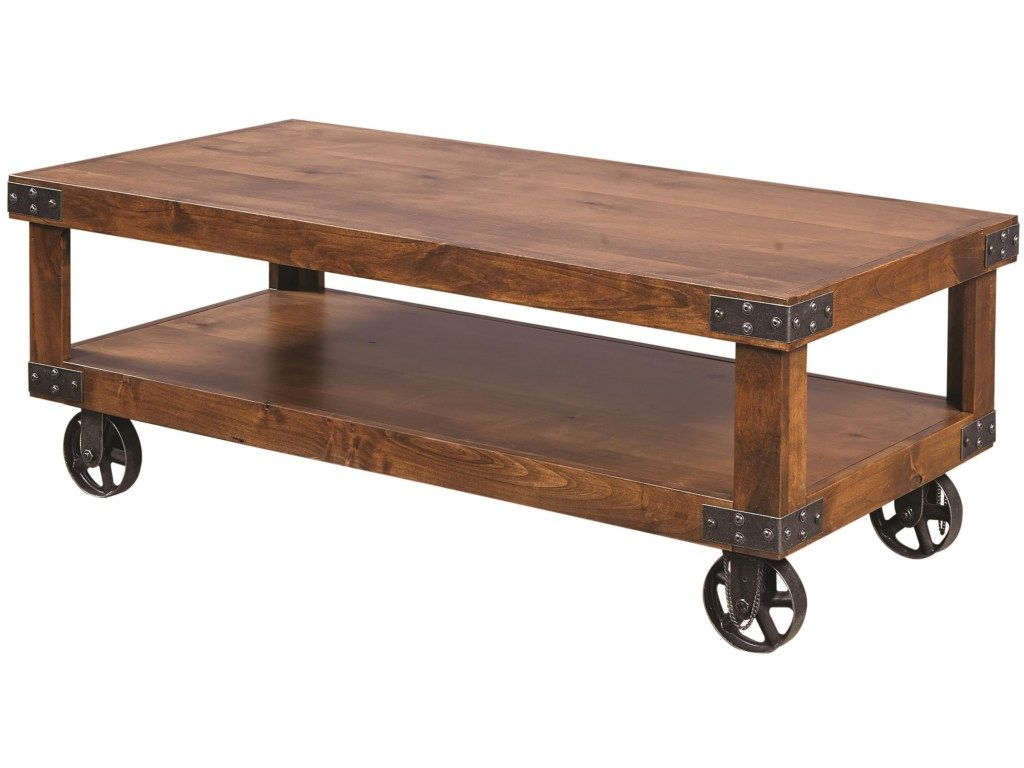Embrace rustic industrial style with this charming cocktail table shop for the aspenhome industrial cocktail table at pilgrim furniture city your hartford bridgeport connecticut furniture mattress store geotapseo Choice Image