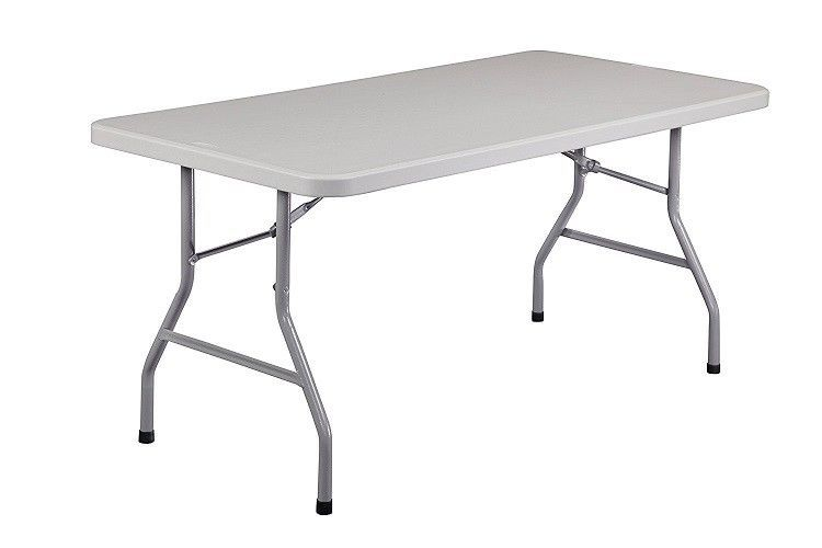 5 Ft Rectangular Plastic Folding Table Up To 1000lbs Office Gaming Portable Easy Folding Table Public Seating Solid Furniture
