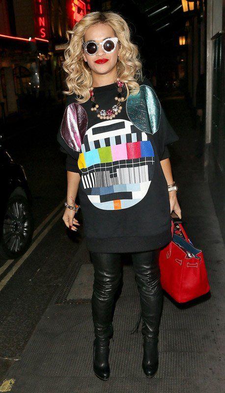 Rita Ora en el Ivy Club en Londres (28 de agosto). / Rita Ora at Ivy Club in London (August 28).