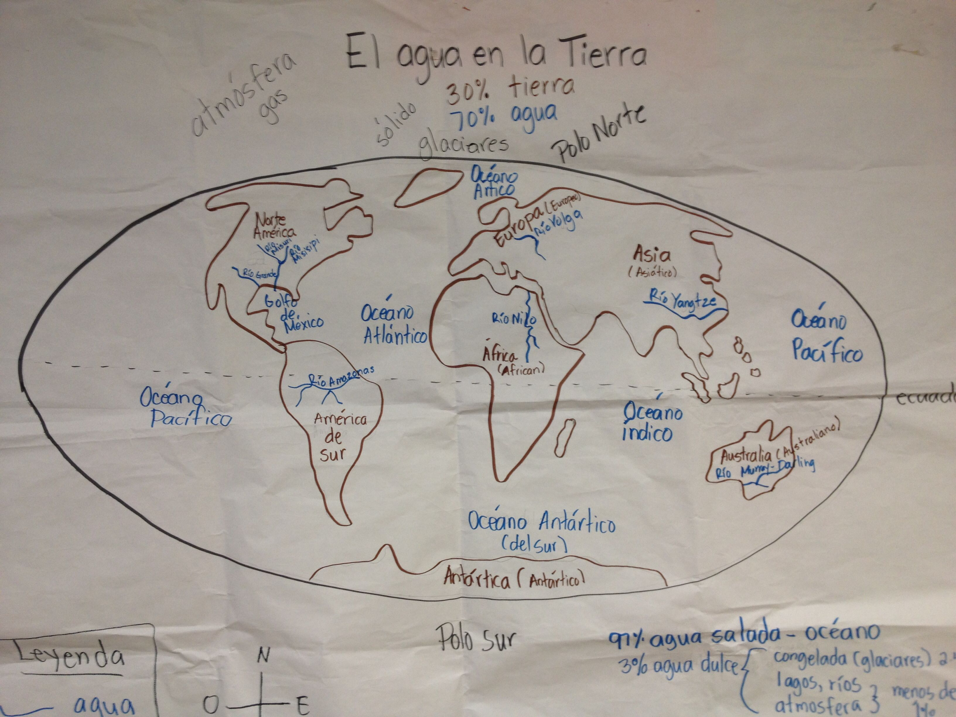 World Map PictorialGLAD Strategy  Dual Language SuPeR Maestros