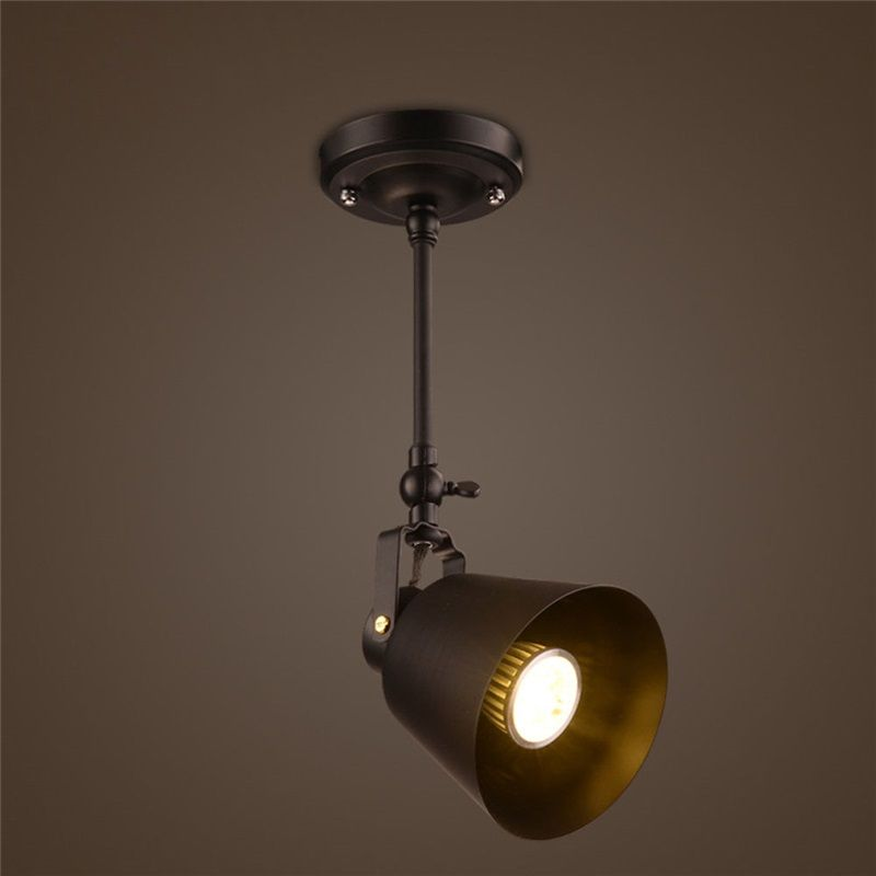 Rustic Iron Spotlight Countryside Vintage Ceiling Light Vintage Ceiling Lights Ceiling Lights Iron Ceiling Lights